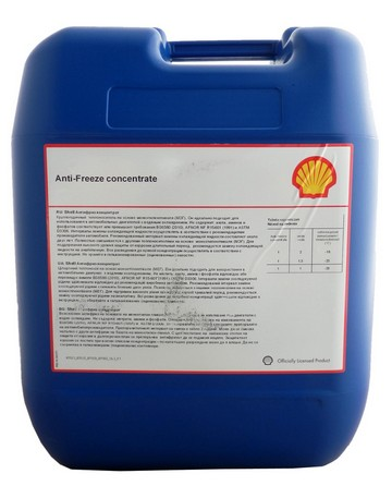 Антифриз SHELL Premium Antifreeze конц синий - 20 л.