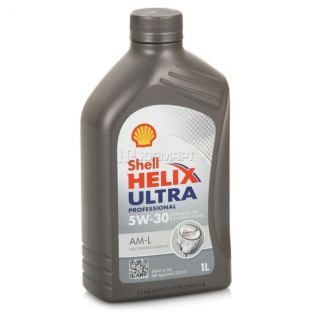 Масло SHELL 5/30 Helix Ultra Professional AM-L - 1 л.